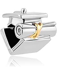 Korliya Graduate Trencher Cap. Abalorio para pulsera