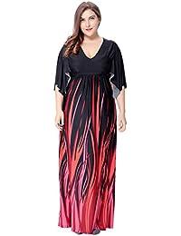 Plus Size Vestito da Donna delle Signore Casuali del Vestito Maxi dalla  Boemia 0957bfcc586