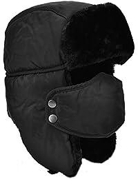 Unisexe Hiver Chapka Ear Flap Trappeur Bomber Casquettes Bonnets Chapeaux Garder Chaud Patinage Ski Autres Activités en Plein Air