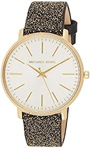 Michael Kors Pyper Women's White Dial Leather Analog Watch - MK