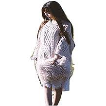 Ysting Reale struzzo pelliccia borsa borsa spalla delle donne