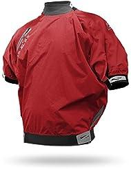 Niveles Six Fundy Short Sleeve Splash Top seco Chaqueta Kayak spraytop Paddler Chaqueta Remo Kayak Canoa, rojo