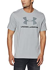 Under Armour Cc Sportstyle Logo Camiseta de Manga Corta, Hombre, Gris (True Grey Heather), XL