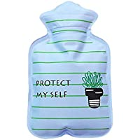 Preisvergleich für iBaste Wärmflasche mit Dicken, Cute Cartoon Mini Wärmflasche Kinder Mini Explosionsgeschützte tragbare Wärmflasche