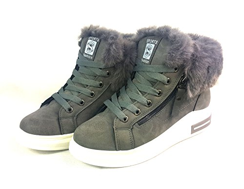 Womens Ankle Boots Faux Fur Lining