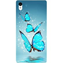 Casotec Flying Butterflies Design Hard Back Case Cover for Sony Xperia Z2