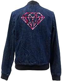 Diamond Roses Bomber Chaqueta Girls Jeans Certified Freak