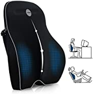وسادة دعم اسفل الظهر من فيلسور، وسادة خلفية من اسفنج رغوة الذاكرة لكرسي المكتب وكرسي الكمبيوتر/السيارة والكرسي