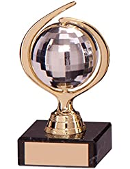 Estrictamente Glitter bola baile trofeo 115mm con grabado