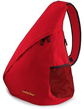 Umhänge Rucksack / Einträger Rucksack : Rucksack -- Goodman Logo -- Crossbag Farbe: rot