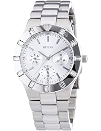 Guess W11610L1 - Reloj analógico de cuarzo para mujer con correa de acero inoxidable, color plateado