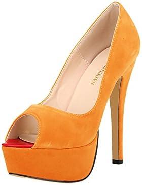MEI&S Donna Bocca di pesce bocca poco profonda Prom Stiletto Tacchi Alti Wedding Corte pompe scarpe