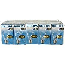 Ampoules à incandescence Philips E27 60W 1000h, lot de 10