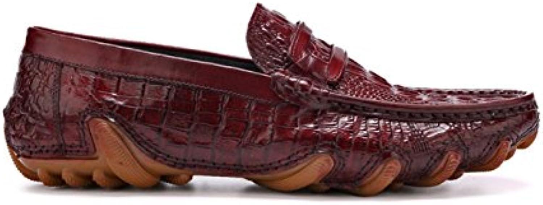 YIWANGO Stringate da Uomo Scarpe da Uomo Uomo Uomo Estive Modello di Coccodrillo Scarpe Casual Scarpe da Guida Inghilterra | Lavorazione perfetta  1e0663