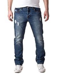 98-86 Herren Straight Leg Jeans 5-Pocket Jeans Hose