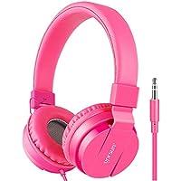 Gorsun® Premium Kinderkopfhörer, Faltbare Kopfhörer für Kinder, Verstellbare Leicht-Kopfhörer für Jungen und Mädchen-Rosa