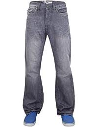 "New Mens Boys APT Designer Boot Cut Denim Jeans Trousers Light & Dark Wash 28"" to 50"" Waist"