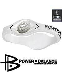 Power Balance–Blanco M–Pulsera de silicona–Pro litio Uni Deporte Pulsera de silicona–iwsa09gwsa09