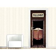 Trbild Traufkleber Bild Aufkleber Fr Wohnzimmer Schriftzug Saloon Schwingtr