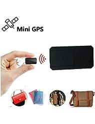Winnes Mini Magnetic Micro GPS Tracking, Anti Theft Real Time GPS Tracker GPS Locator Handbag Wallet Pockets School Bag Important Documents Lost Finder Tracker TK901Black