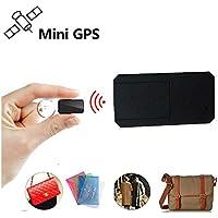 Winnes Mini GPS Tracker, magnético Micro GPS Ortung Anti Theft Tiempo Real GPS Locator para Bolso Cartera Bolsillos Escolares. Documentos Importantes Perdido Localizador Tracker tk901Negro