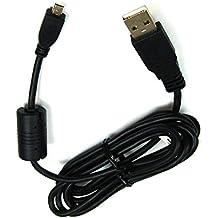 Bg-akku24 -Cable de carga/datos USB para Nikon Coolpix A100, A300, P100, P300, P310, P330, P500, P510, P520, P530, S02, S32, S800c, S2500, S2600, S2700, S2800, S2900, S3000, S3100, S3200, S3300, S3400, S3500, S3600, S3700, S4000, S4100, S4150, S4200, S4300, S4400, S5100, S5200, S6200, S6300, S6500, S6600, S8000, S8200, S9200, S9300, S9400, S9500 - UC-E6, UC-E16