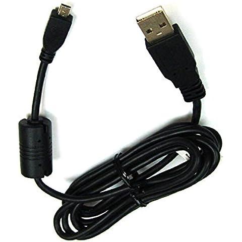 Cable de carga, cable de datos, cable USB para Nikon Coolpix A100, A300, P100, P300, P310, P330, P500, P510, P520, P530, S02, S32, S800C, S2500, S2600, S2700, S2800, S2900, S3000, S3100, S3200, S3300, S3400, S3500, S3600, S3700, S4000, S4100, S4150, S4200, S4300, S4400, S5100, S5200, S6200, S6300, S6500, S6600, S8200, S9200, S9300, S9400, S9500–de UC E6,