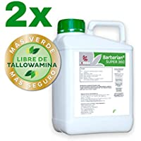 SUPER 360 Herbicida 2 x 5 litros Barbariani Maximo Control de Las Malas Hierbas Barbarian Herbicida Trata hasta 1666 m2 / m 1Lt Sin Lesion Superficial: Total absorcion 100% eficacia Envio 24horas