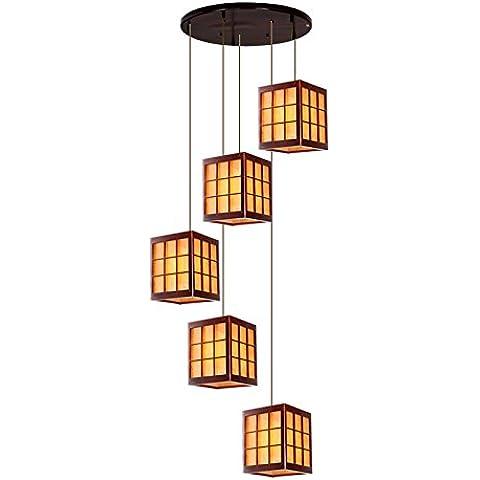MSUXT lampade a sospensione Cinese in legno