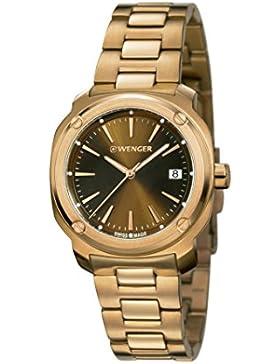 WENGER Unisex-Armbanduhr Analog Quarz Edelstahl EDGE INDEX NO:01.1121.105