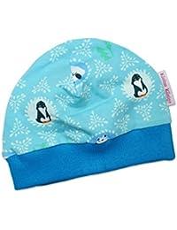 """Baby-Mütze Winter """"Pinguin"""" blau Kinder-Mütze Jerseymütze von Kleine Könige"""