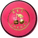 Red Cherry by Kookaburra Leather Cricket Ball, (Pink)