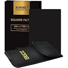 ZOMEi 100x150mm ND16 Z-PRO Serie Filtro Cuadrado Completa Filtro de Densidad Neutra Gray Compatibles con el Sostenedor de Cokin Z Lee Hitech '4X6'
