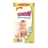 Goon Premium Soft Bebek Bezi, 3 Beden, Jumbo Paket, 40 Adet, Beyaz