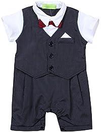 iBaste Niños Bebes conjuntos mameluco Camiseta cortos Pantalones de la Moda para Niños
