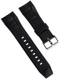 Correa Calypso de pulsera-material de PU negro para Calypso K5699 relojes