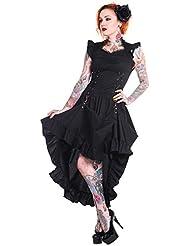 Sobre un vestido negro con falda izado aristocrate Banned diseño gótico