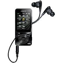 Sony NWZ-E585 Lettore Musicale Digitale Portatile Walkman, Memoria Interna 16 GB, Display da 2,0 Pollici, Radio FM, Cuffie incluse, Nero