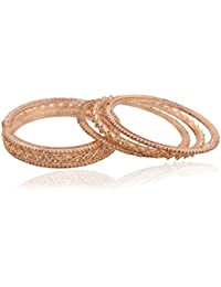 I Jewels Traditional Gold Plated Bangles For Women ADB132