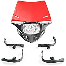 Faros delanteros universales para motocicleta con luz LED de giro para motocross, enduro y Dirt
