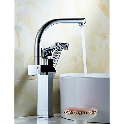 KHSKX 0.5 rame totale multifunzione argento bacino faccia calda rubinetto dell'acqua fredda