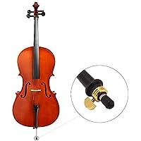 broadroot 3pcs violonchelo Endpin Tapón de punta de goma pantalla piezas de instrumentos de cuerda