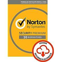 Norton Security   Premium   10 Dispositivo   1 Año   PC/Mac   Código de activación enviado por email