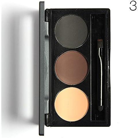 starvy (TM) 3colori trucco sopracciglia torta polvere Eye Brow Defining