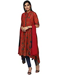 Ritu Kumar Women's A Line Synthetic Salwar Suit Set