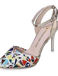 ggx cuero sintético zapatos de mujer primavera verano otoño talones señaló  Toe tacones fiesta y tarde vestido Stiletto… 1ede89212ec4