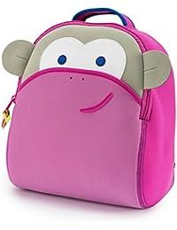 Dabbawalla Bags Blushing Pink Monkey Kids Toddler & Preschool Backpack Pink/Grey
