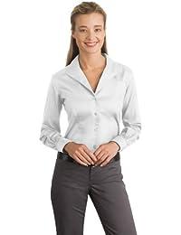 Red House Ladies Herringbone Non Iron Button Down Shirt 4Xl White