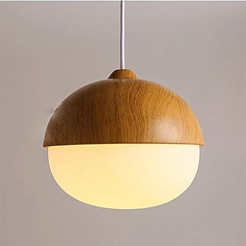 GS~LY i dadi American stylecreative vetro legno-grano lampadario in