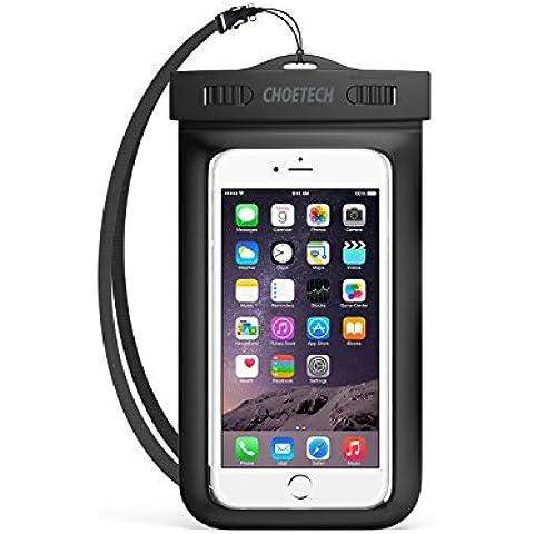 [Funda Impermeable Universal] CHOETECH Fundas Movil para Agua PVC+ABS Funda Sumergible Movil Sensible al Tacto de la caja Compatible para iPhone 6s, 6s Plus, Samsung Galaxy S7, S6 y todos los dispositivos de hasta 6